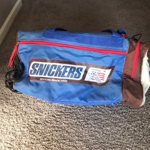 Vintage '94 snickers worldcup soccer duffel bag
